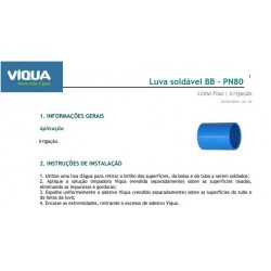 LUVA IRRIGA LF PN80 - 100MM