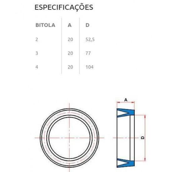 JUNTA BORRACHA VEDAÇÃO IRRIGA EP / ES - 4 POLEGADAS - 50 PEÇAS