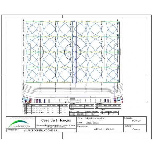 PROJETO DE IRRIGAÇÃO PARA CAMPO DE FUTEBOL OFICIAL 110 X 90M